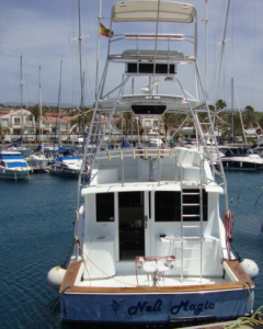 Nell Magic, a boat designed for big game fishing - La Gomera (Canary Islands)