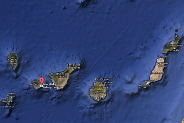 Location of the big fishing boat to La Gomera - Canary Island